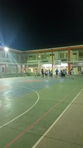 Basketball on the court