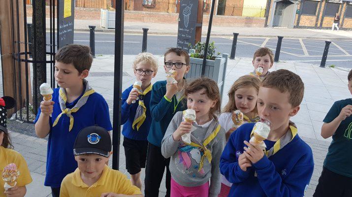 Monday Beavers eating ice-cream